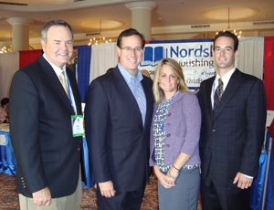 AMAC associates meet former Senator Rick Santorum (second from the left).